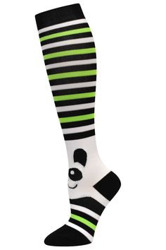 Panda Face Fashion Compression Sock - 94665  Wear this cute companion around while looking stylish on the job!
