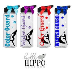 Personalized Color Guard Water Bottle Winter Guard Water Bottle Bulk... ($15) ❤ liked on Polyvore featuring home, kitchen & dining, drink & barware, drinkware, home & living, water bottles & vacuum flasks, white and outdoor cart