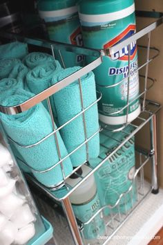 How to Organize Under the Kitchen Sink by colleen