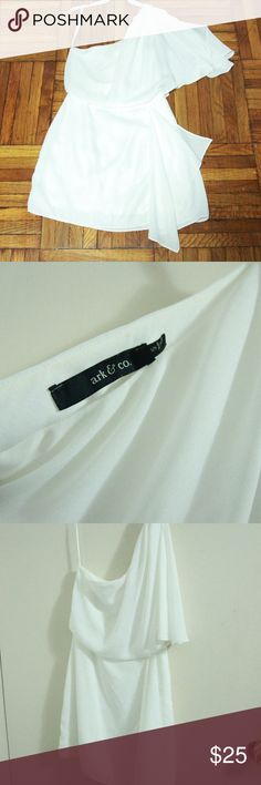 Ark & Co. one shoulder flutter sleeve dress S Gently used and in great condition Ark & Co Dresses