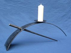 candlestick in metal in contemporary design