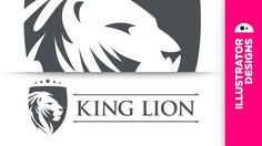 King lion logo from sketch