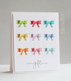 mama elephant die for bows, sentiment from confetti set, cherry lynn designs for stitching -melania deasy: The Cutting Edge Challenge Handmade Greetings, Greeting Cards Handmade, Card Making Inspiration, Making Ideas, Scrapbook Cards, Scrapbooking, Mama Elephant Cards, Marianne Design, Partys