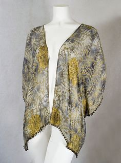 * Babani metallic brocaded chiffon evening jacket, 1920s