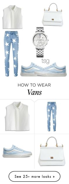 """Untitled #1727"" by theblushingbeauty on Polyvore featuring STELLA McCARTNEY, Vans, Chicwish, Tommy Hilfiger, Dolce&Gabbana, women's clothing, women, female, woman and misses"