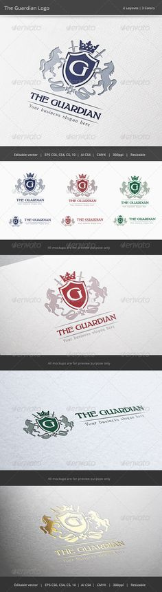 The Guardian Letter Crest Logo — Vector EPS #royal #bold • Available here → https://graphicriver.net/item/the-guardian-letter-crest-logo/6387808?ref=pxcr