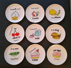 Pottery Painting, Ceramic Painting, Pottery Art, Painted Ceramic Plates, Decorative Plates, Service Assiette, Personalised Gifts Diy, Diy Mugs, Clay Creations