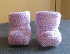 modele chaussons bebe tricot gratuit