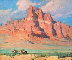 "Edgar Payne (1883-1947)  ""Red Mesa""  c.1925-1935  Oil on Canvas  25"" x 30"""
