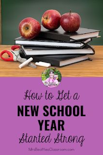 Heading back to school to begin a new school year is a time to improve your past teaching practices and establish routines and expectations for your new students. This blog post includes resources, ideas, and freebies for getting your new school year started strong. New School Year, Back To School, Parent Open House, Teacher Organization, New Students, Classroom Management, Strong, Teaching, Blog