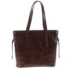 Chiarugi Italian Leather Large Tote Shopper Bag, Handbag - Brown