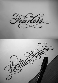 The exact Fearless tattoo i want font and everything haven't found one that compares to the beauty of this