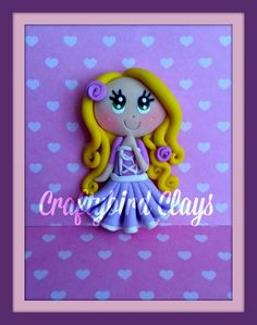 Rapanzel Inspired Polymer Clay Charm by BeFairyCreative on Etsy, $6.50