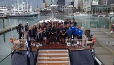 The Duke and Duchess of Cambridge and their sailing teams.