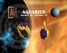 Aquarius AMETHYST Rings buy online at Teleskyshopping