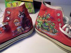 Teenage Mutant Ninja turtle Handpainted Converse shoes