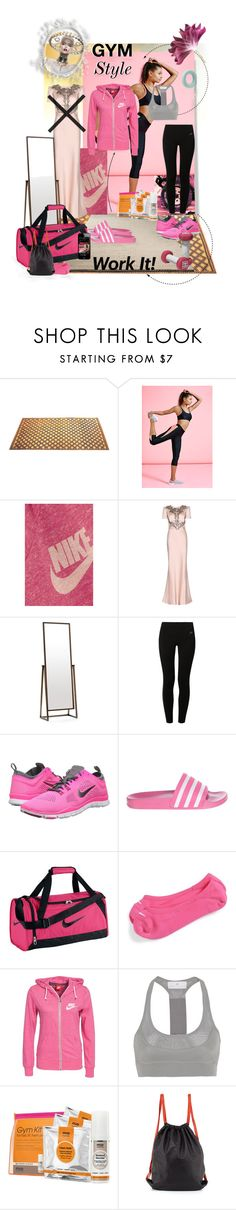 """Work it - Gym style"" by tempestaartica ❤ liked on Polyvore featuring interior, interiors, interior design, home, home decor, interior decorating, Two's Company, Missguided, NIKE and Alexander McQueen"
