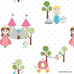 Fabric... Happy Ever After Princess in Blue by Riley Blake