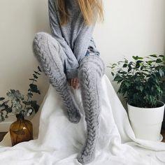 Thigh High Socks, Thigh Highs, Sexy Lingerie, Cool Winter, Fluffy Socks, Bed Socks, Cozy Fashion, Fashion Goth, Fall Fashion