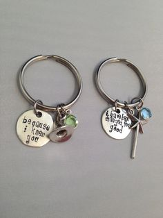 Because I Knew You, I have been changed for good Swarovski Elphaba and Galinda Wicked Musical Keychains (Set of 2)