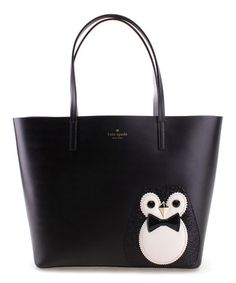 Look what I found on #zulily! Black & White Penguin Little Len Clifton Lane Tote #zulilyfinds