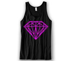 Diamond Pink Print Unisex Tank Top