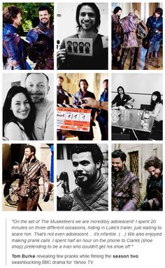 The Musketeers - One of Tom's interviews with some of the set & prep photos that have been released.
