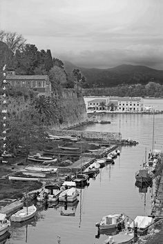 Corfu Town Corfu Town, Corfu Island, Corfu Greece, Places Ive Been, To Go, River, Black And White, Photography, Outdoor