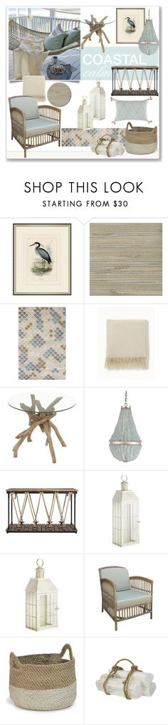 """""""Coastal Calm"""" by ditzglitz ❤ liked on Polyvore featuring interior, interiors, interior design, home, home decor, interior decorating, Frontgate, Soma, Dot & Bo and Pier 1 Imports"""