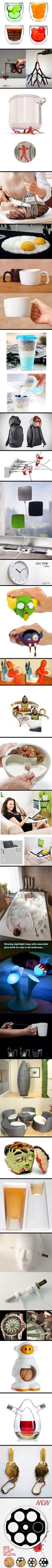 24 Cool and Creative Home Gadgets That Think Outside the Box - lovin' the Mr.T bag, tea mug, & sword ear buds.