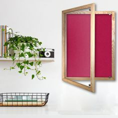 Grasmere Notice Board with Lockable Wood Frame - Noticeboards Online - Buy Notice Boards And Whiteboards Online Wood, White Board, Wood Frame, Silver Birch, Single Doors, Red Peonies, Home Decor, Ash Wood, Frame