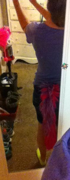 A yarn tail my mom made me last Halloween!