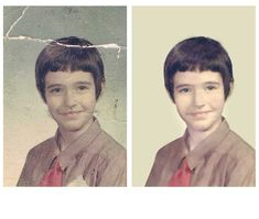 Photo Repair Wizards Restores Damaged School Photos www.fixingphotos.com For A Free Photo Repair Quote!