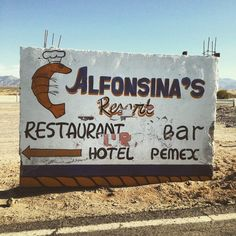 If you see this sign along the road, that means you are in paradise or as we call it Bahia de San Luis Gonzaga! Discover #BajaCalifornia www.discoverbajacalifornia.com  (adventure by alfonsoolvera)
