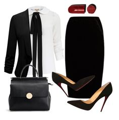 """""""B.Lady"""" by gz-d ❤ liked on Polyvore featuring Michael Kors, Jupe By Jackie and Christian Louboutin"""