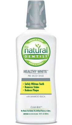 The Natural Dentist Healthy White Pre-Brush Mouthwash with Bamboo Silica, Clean Mint, Oz, Multi Teeth Whitening That Works, Teeth Whitening Remedies, Charcoal Teeth Whitening, Natural Teeth Whitening, Aloe Vera, Emergency Dentist, Best Oral, Healthy Teeth, Science