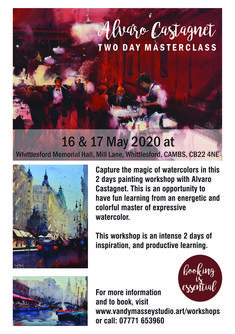 Two day workshop in Cambridgeshire with master watercolourist, Alvaro Castagnet. Teaching Style, Painting Workshop, Watercolor Portraits, Master Class, Fun Learning, Studio, Artist, Artists, Studios
