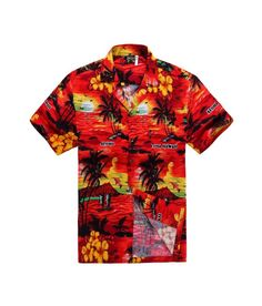 Funky Hawaiian Shirt Jungle Mustard Different Sizes