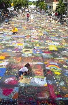Children's Avenue, Photo by Joy Phoenix at San Rafael Italian Street Painting Festival