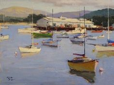 August on Monterey Bay by Brian Blood Oil ~ 9 x 12
