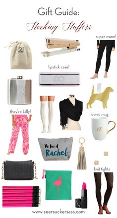 Christmas Stocking Stuffer & gift ideas for women, college kids, and teens!  All under $100, most under $50!