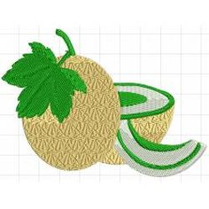 25 Best Foods Fruits Vegetable Embroidery Designs Images