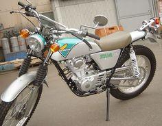 Vintage Honda TL125 Motorcycle.