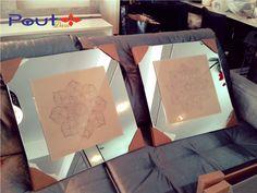 mandalas - Gravação no vidro
