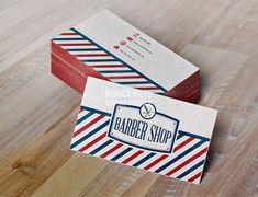 Printable Vintage Barber Shop Business Cards