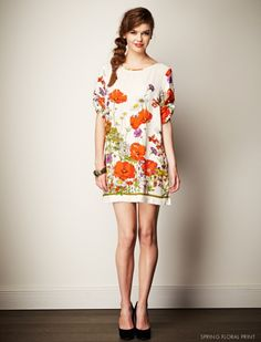 Get Frocked! with Leona Edmiston https://leonaedmiston.com/onlinestore Prue Dress floral spring dress | short sleeve dress | white floral print dress