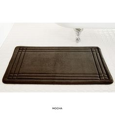 Embossed Memory Foam Mat with Bounce Comfort Technology - Assorted Colors