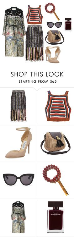 """""""163-3 Treasure Girl"""" by afashionpage on Polyvore featuring MSGM, Rachel Comey, Jimmy Choo, Christian Dior, Nicole Romano, Valentino and Narciso Rodriguez"""