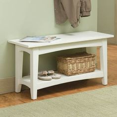 Cottage bench for entryway