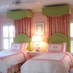 Kids room ideas on pinterest green girls rooms girl for Apple green bedroom ideas